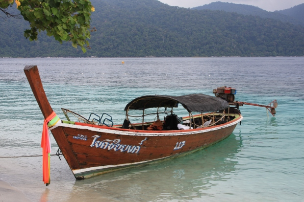 Our chariot for the day! (Private boat tour from Koh Lipe.)