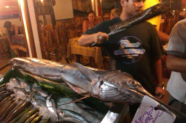 Swordfish at a seafood BBQ Restaurant, Walking Street, Koh Lipe
