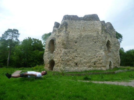 Planking at Odiham Castle
