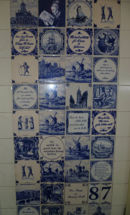 Tiles in a Dutch bathroom