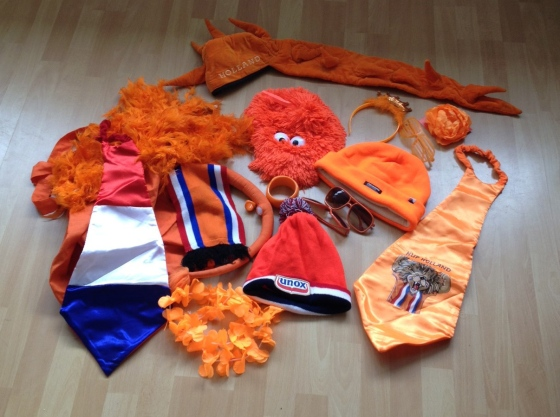 Our King's Day accessories box.