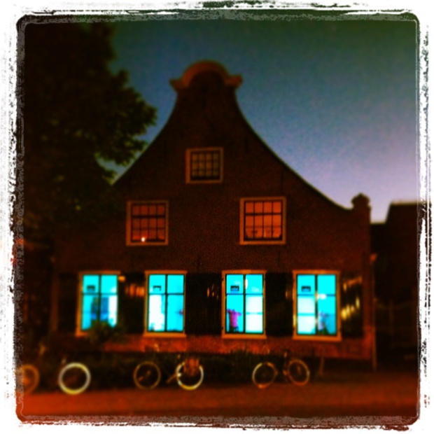Blue lights in Hilversum