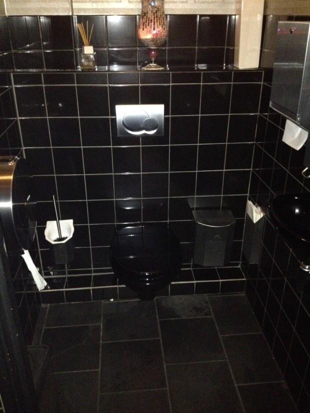 Blacker than black bathroom