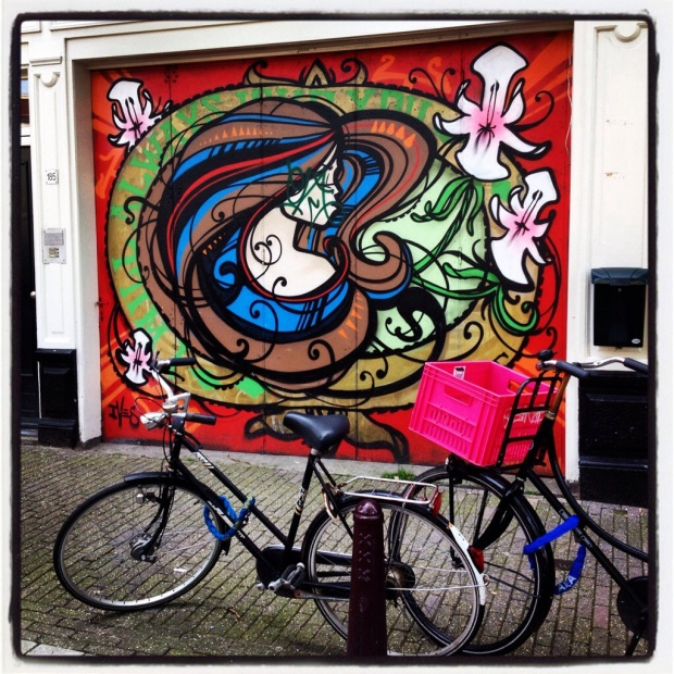 Street Art vlakbij Anne Frank's Huis (Street Art near Anne Franks House)