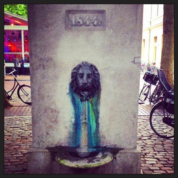Lion fountain, Utrecht