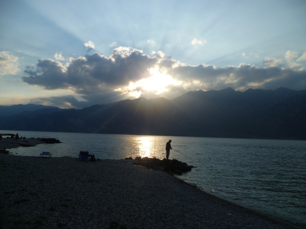 Fisherman, Navene, Lake Garda