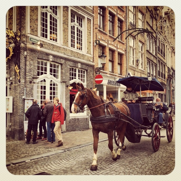 Horse and cart in Bruges