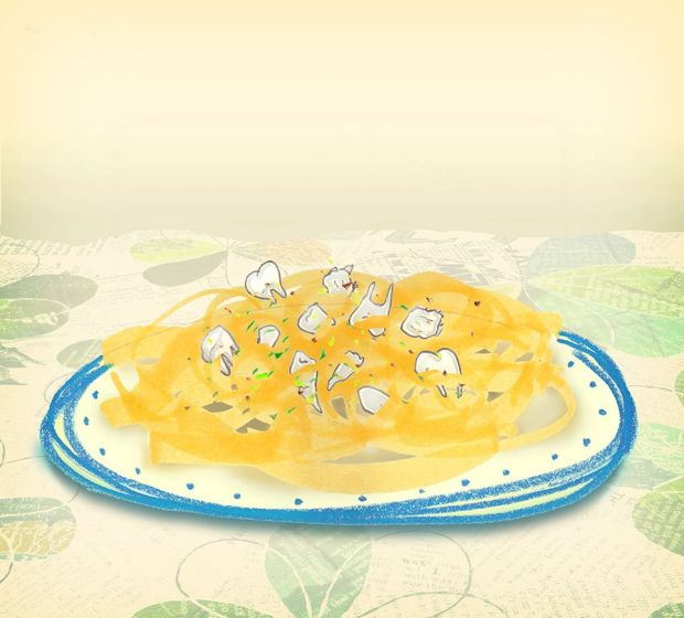 Tandpasta, courtesy of Laura Frame Illustration