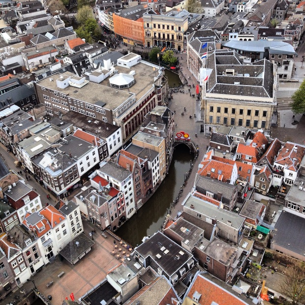 View from the top of the Dom Tower, Utrecht