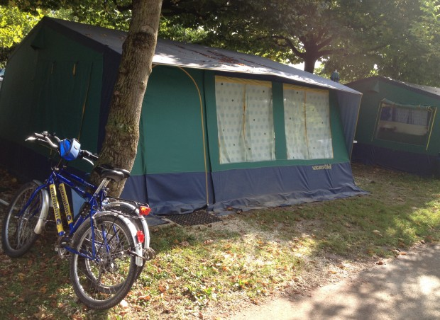 Camping with bikes