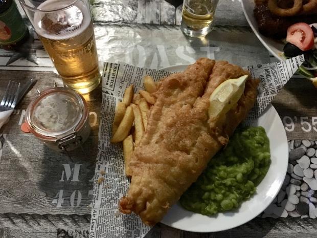 Fish & Chips at Ocean Bar, Mellieha, Malta