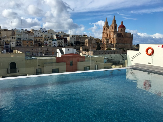 View from Pergola Hotel, Mellieha, Malta