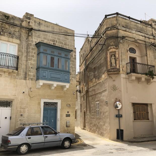 Pretty street in Naxxar, Malta